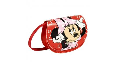dece9975af2 Disney Minnie Mouse Rugzak met Schrijfgedeelte + 2 Markers 25x31x10 cm Roze.  18,33 incl. btw. Disney Minnie Mouse Schoudertas 12x9.5x3.5 cm Rood