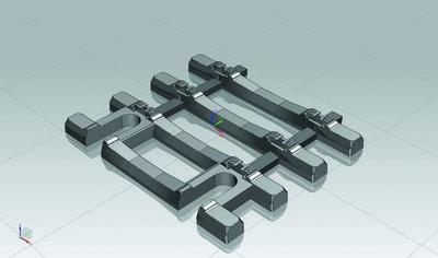 Gleisschwellen 31mm für Flexgleis mit Betonschwellen VE12