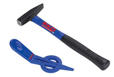 Gleis-Nagel-Halter + Hammer