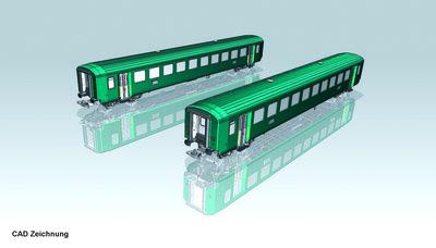 2er Set EW-I Wagen 2. grün Typ B SBB IV