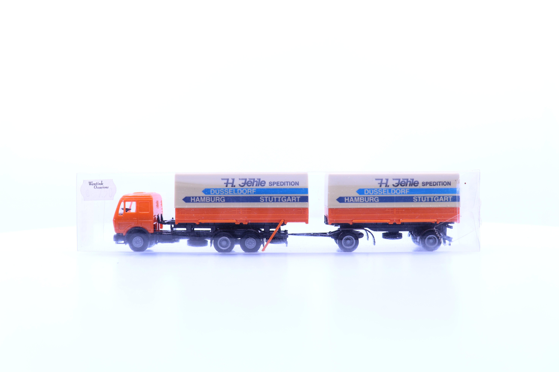 """vrachtwagen met aanhanger """"H. Jehile spedition"""""""