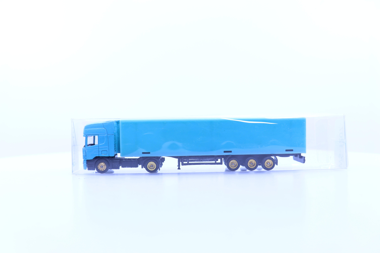 """vrachtwagen met oplegger """"blauw zonder bedrukking"""""""