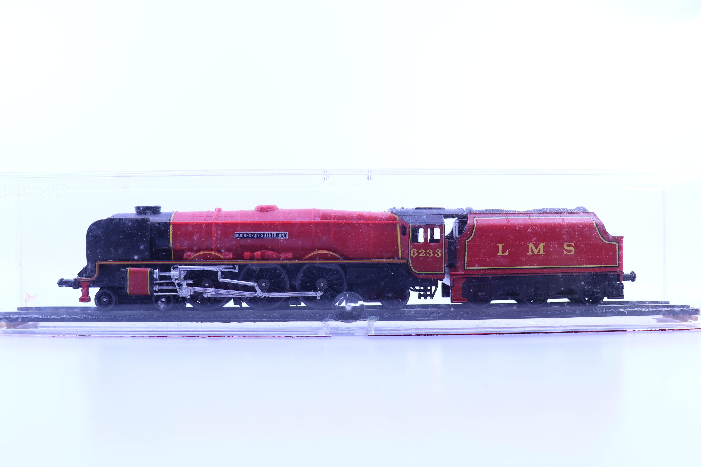 """onbekend merk HO stoom locomotief """"duchess lms"""" vitrine model"""